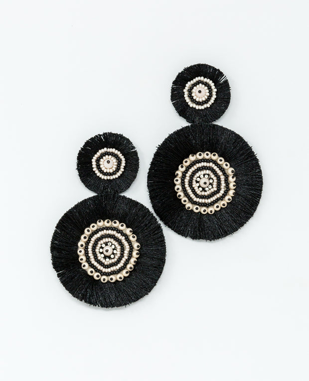 Greta Earrings Black