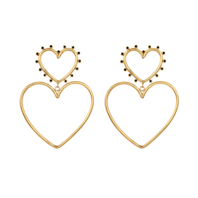 Double Love Earrings Black