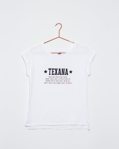 Texana White T Shirt