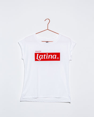Enjoy Latina White T Shirt