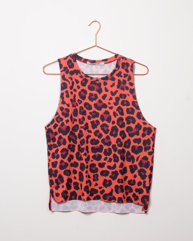 Leopard Red Tank Top - Boho Hunter