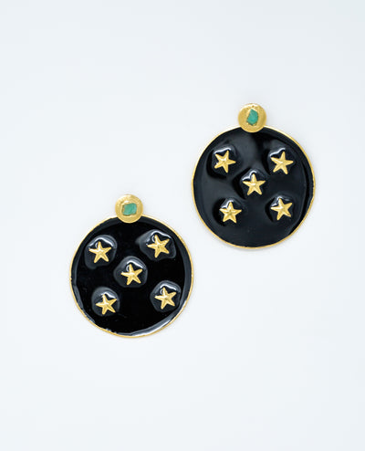 Lyra Earrings Black