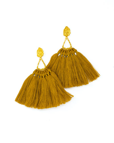 Mustard Machu Pichu Earrings