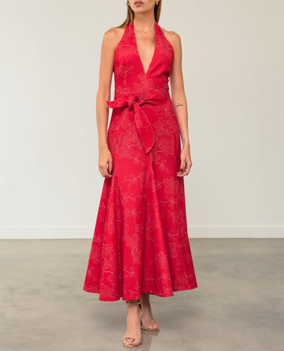 Sombrita Red Orchid Dress