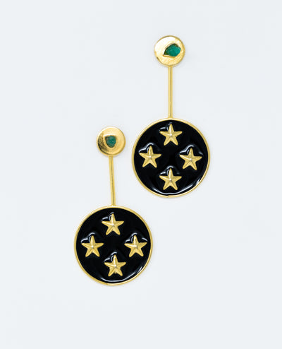 Kyra Earrings Black