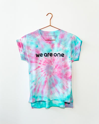 We Are One Pink/Aqua Tee