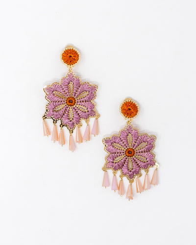 Hisbiscus Earrings Pink