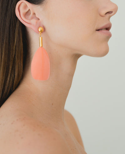 Puloy Earrings Coral