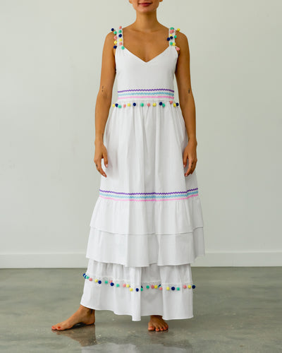 Tutti Frutti Miel Cotton Dress White