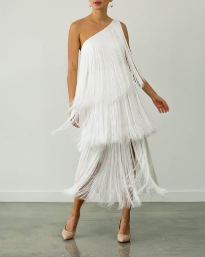 Cascada Long Dress White