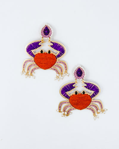 Violet Crab Earrings