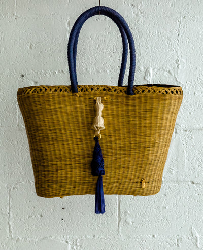 Seryn Large Basket Navy/Beige - Boho Hunter