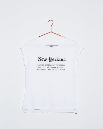 New Yorkina White Tee