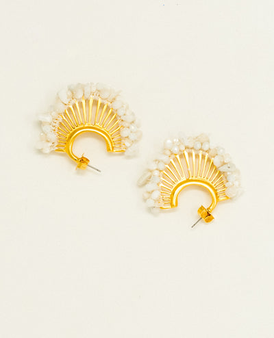 Candelaria White Earrings