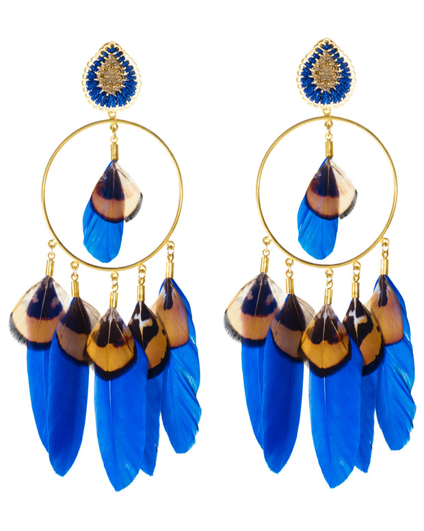 Blue Midday Sun Earrings - Boho Hunter