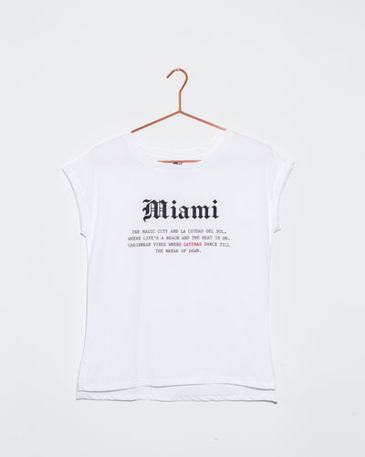 Miami White T Shirt