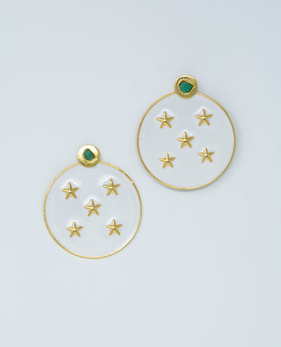 Lyra Earrings White
