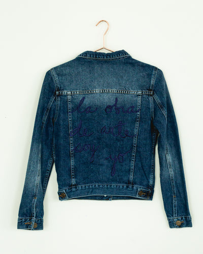 "Classic "" La Obra de Arte Soy Yo""  Denim Jacket Neck Knot - Boho Hunter"