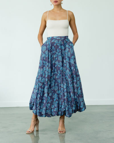 Palmeras Skirt Blue and Turquoise