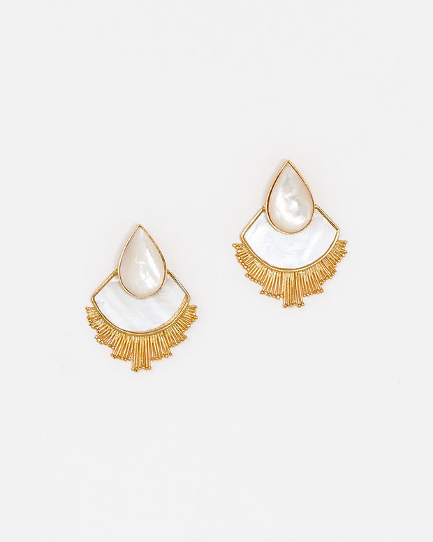 Teardrop Earrings Mother Pearl - Boho Hunter