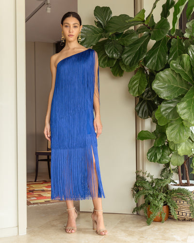 Cascada Long Dress Blue - Boho Hunter