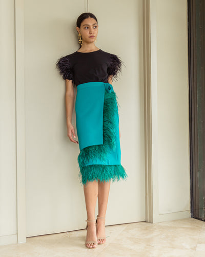 Amatista Skirt Teal Green - Boho Hunter