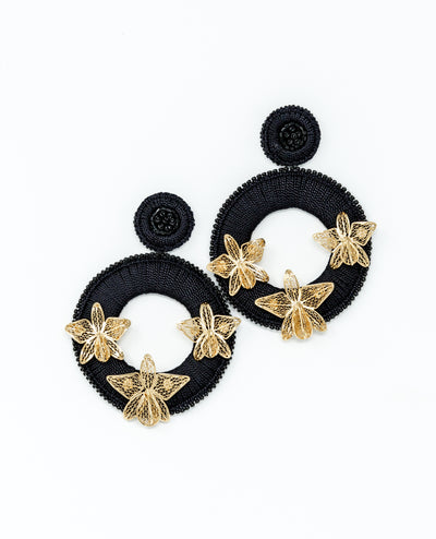Magdalena Earrings Black - Boho Hunter
