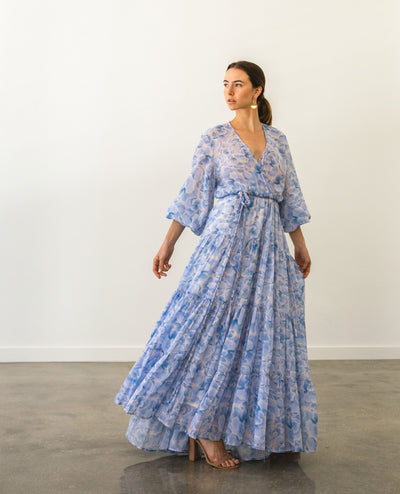 Eva Maxi Dress Blue