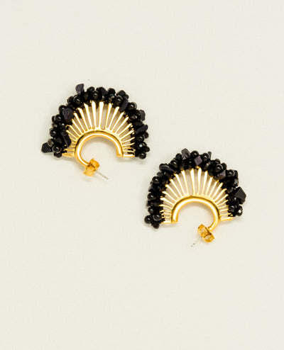 Candelaria Black Earrings