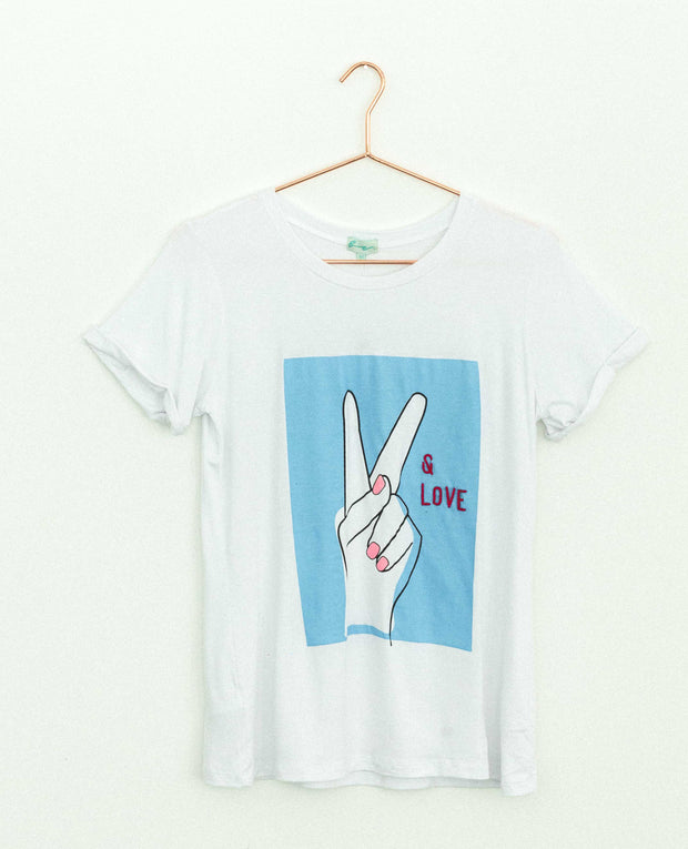 Peace & Love Fingers Blue