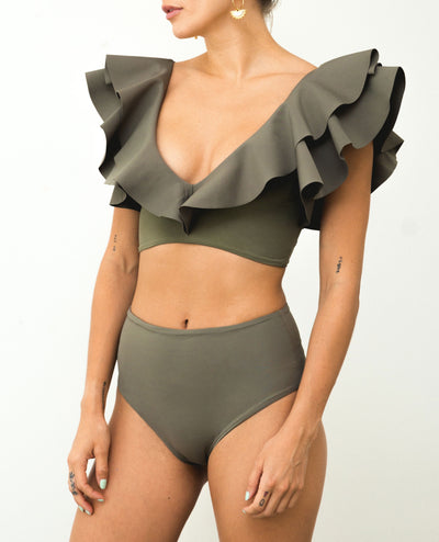 Mila Two Piece Olive Green