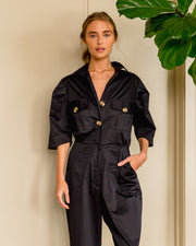 Army Jumpsuit Black - Boho Hunter