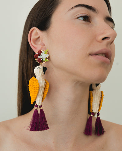 Mini Guacamaya Earrings - Boho Hunter