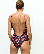 Tulum One Piece Black Cherries