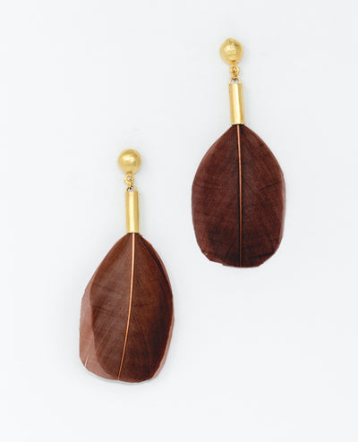 Puloy Earrings Brown