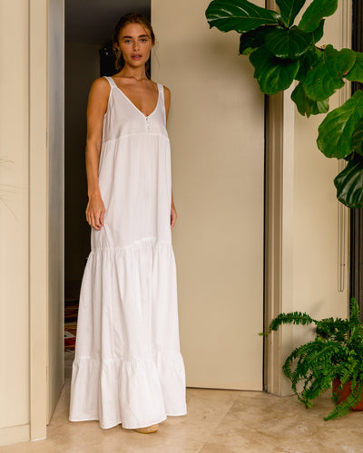 Alma Dress White