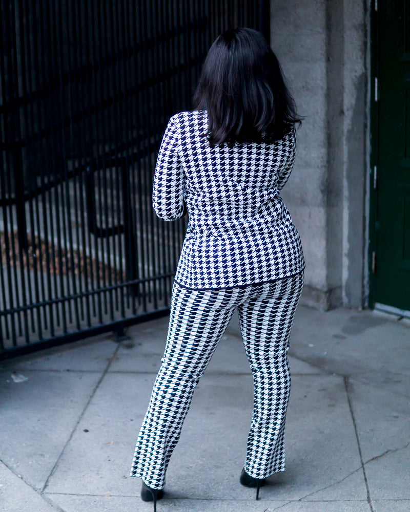 Laura Houndstooth Pants Suit