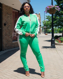 Lime Green Tiffany Tracksuit