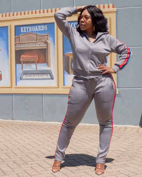 Gray Tiffany Tracksuit