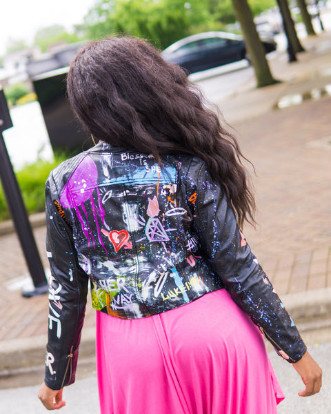 HER Hand-painted Graffiti Jacket