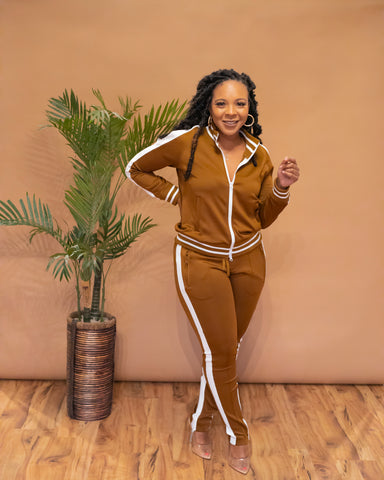 Brown Miyah Tracksuit