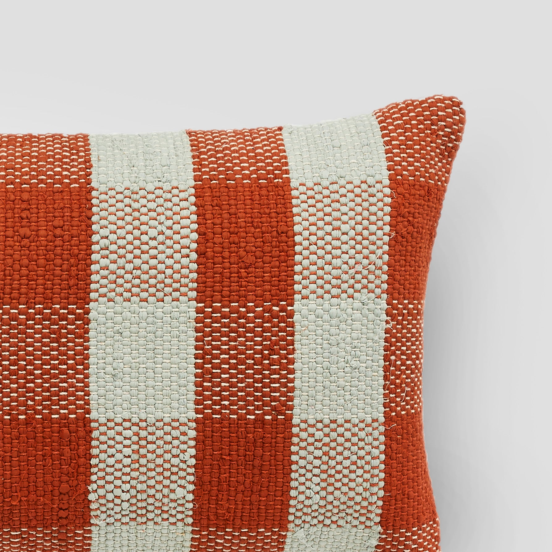 Handmade rectangle textured Cushion in rust