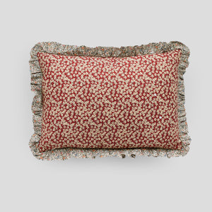 Liberty print rectangle Cushion in Ffion floral rust