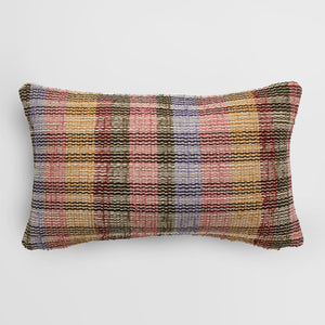 Handmade rectangle textured Cushion in blush