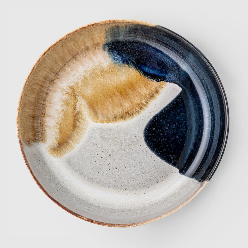 Jules handcrafted natural glazed serving bowl - coming soon