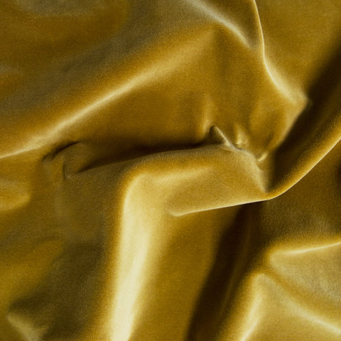 Amber Yellow velvet fabric swatch