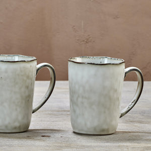 Amina natural glazed mug