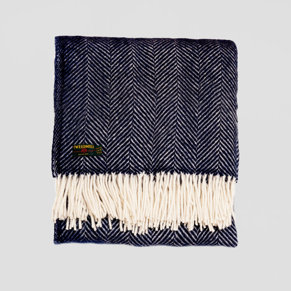Fishbone new wool Throw
