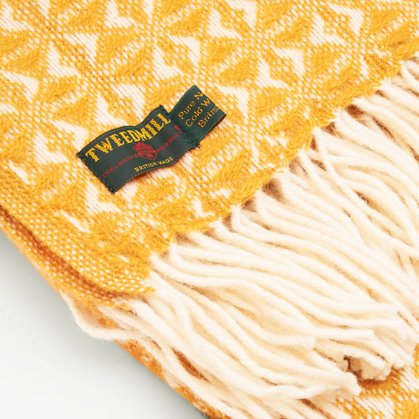 Cobweave Mustard New Wool Throw