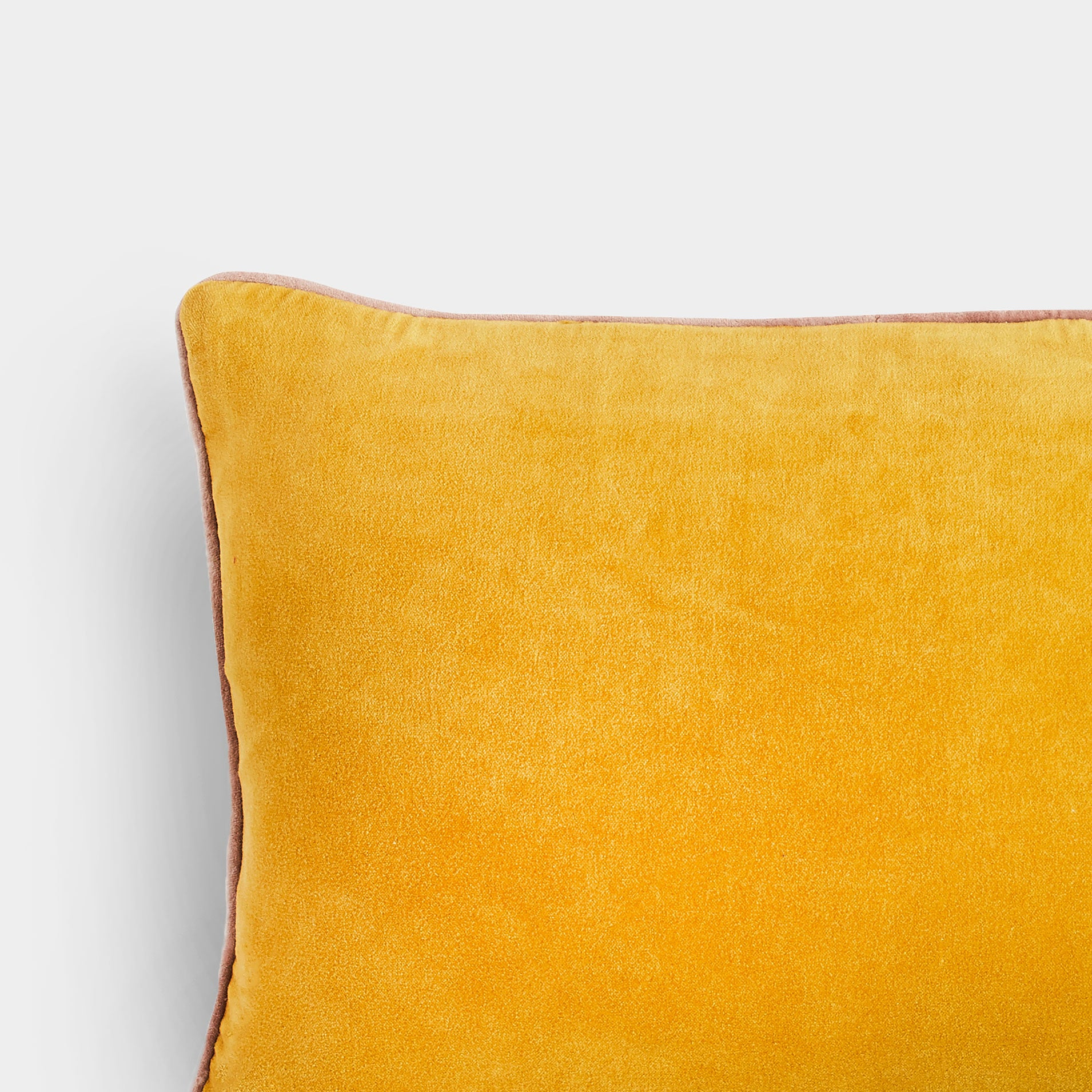 Handmade rectangle mustard velvet Cushion